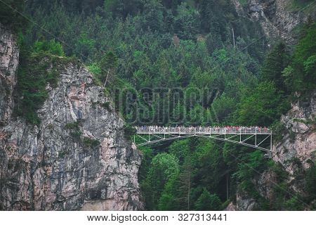 Marienbrucke Or Bridge Of Queen Mary Spanning The Spectacular Pollat Gorge Near Schloss Neuschwanste