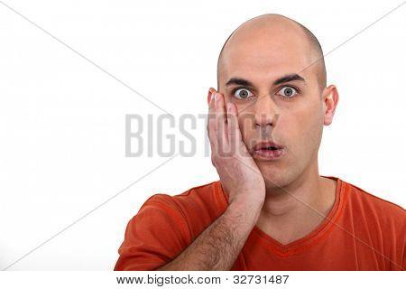 Man in shock