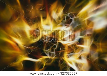 Abstract Background With Blurred Magic Light Curved Lines