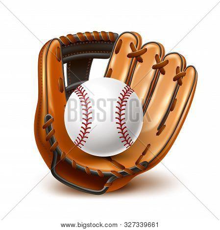 Vector Baseball Championship Flyer 3d Ball, Glove
