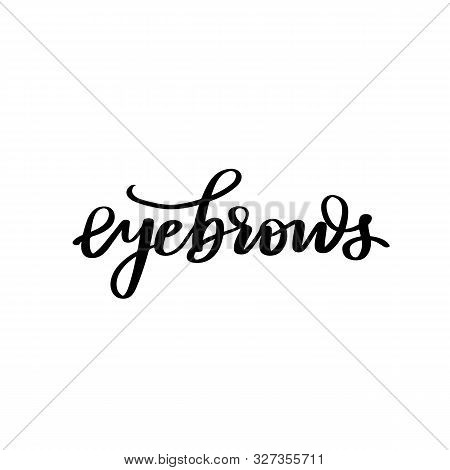 Vector Handwritten Quote. Calligraphy Phrase For Beauty Salon, Brow Bars, Brow Makers