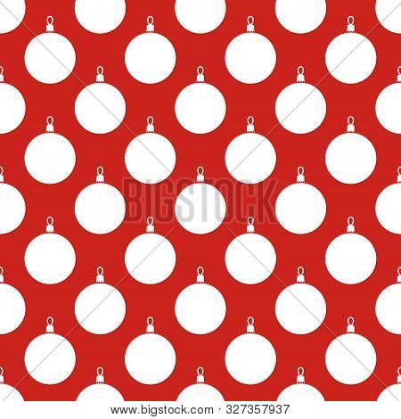 Christmas Balls. Seamless Vector Illustration With Abstract And Minimalistic Christmas Balls