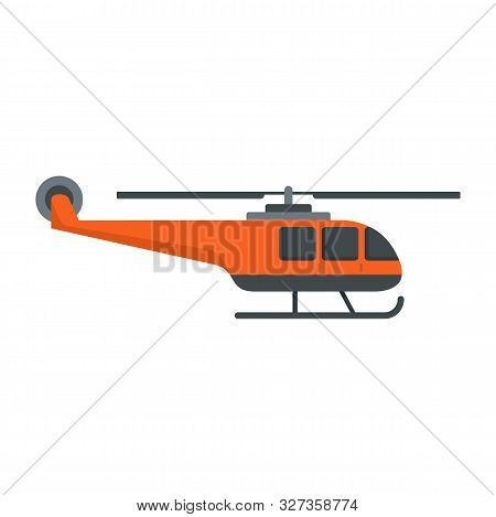 Lifeguard Helicopter Icon. Flat Illustration Of Lifeguard Helicopter Vector Icon For Web Design