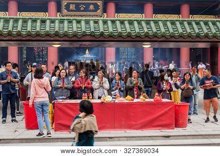 Hongkong, Hongkong - 31 March 2019 Close Up Of Che Kung Temple On 31 March, 2019.cr2