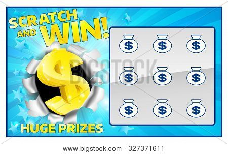 A Lottery Instant Scratch And Win Scratchcard