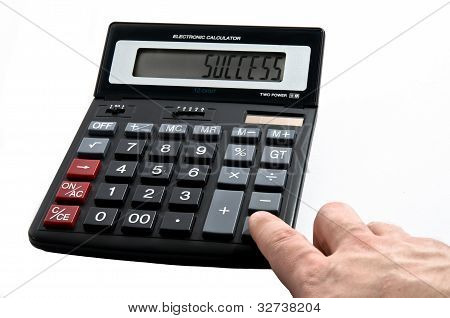 Calculator With Word Success On Display