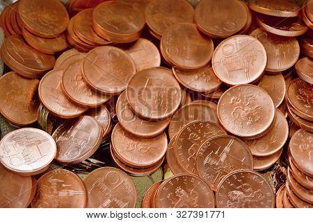 Payment Metal Coins, Currency Czech, Czech Republic