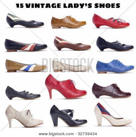 15 beautiful vintage lady's shoes