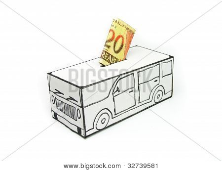 Safe with 20 real car and deposited by hand