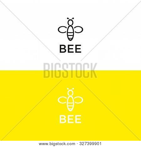 Simple Bee Icon Logo. Simple Bee Icon Illustration. Simple Bee Logo. Simple Bee Logo. Simple Bee Vec