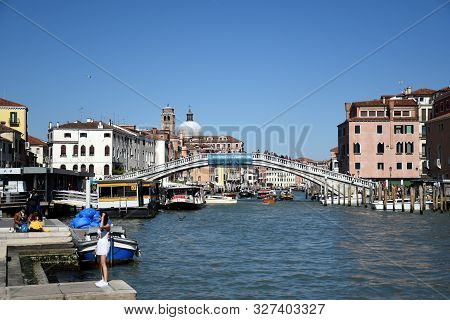 Cityscape Pictures Of The Romantic, Beautiful, Lovely And Historical Venice In Italy