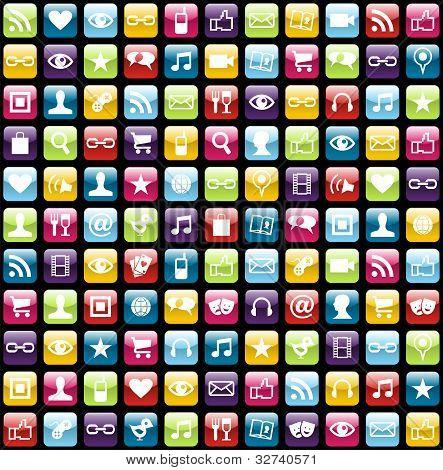 De fondo de los iconos App móvil