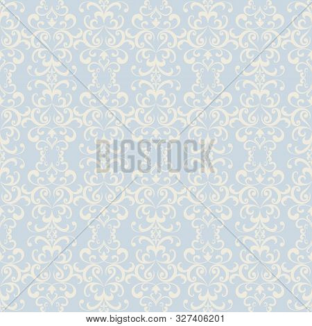 Vintage Lace Pattern, Swirly Ornamental Background In Neutral Colors