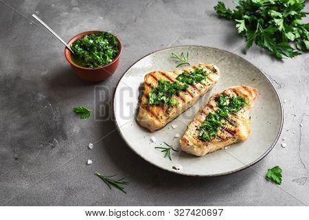 Turkey Steak With Chimichurri Sauce