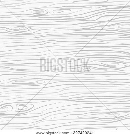 White Square Wooden Cutting, Chopping Board, Table Or Floor Surface. Wood Texture. Vector Illustrati