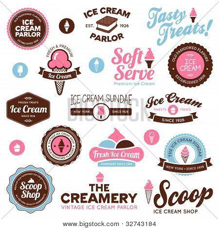 Ice Cream Shop Labels