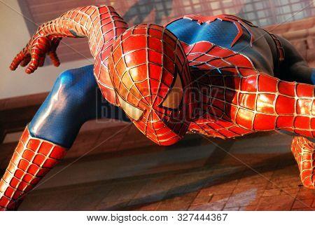 Amsterdam / Netherlands - August 8, 2015: Madame Tussauds Wax Museum: The Amazing Spider-man