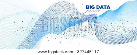 Matrix Vector. White Particle Background. Blue Technology Abstract. Data Numbers. White Matrix Digit