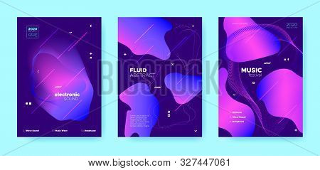 Trance Music Poster. Abstract Gradient Shape. Disco 3d Banner. Blue Flow Shape. Pink House Music Poster. Purple Wave Gradient Blend. Disco Club Event. Dj Concert. Electro Music Poster. poster