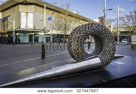 Canberra, Australia - Sep 2, 2018: Modern Sculpture At Monaro Mall Of Canberra Centre. It Consists O