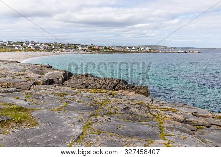 Port, Village And Beach In Inisheer Island