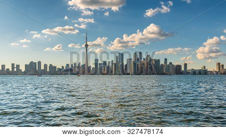 Panoramic View Of Spectacular Toronto Skyline,  Toronto, Ontario, Canada.