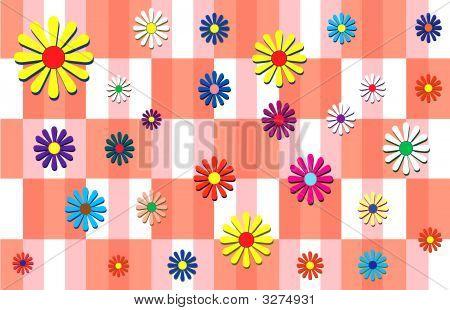 Flowers  Plaid