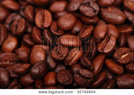 Coffee beans in low key