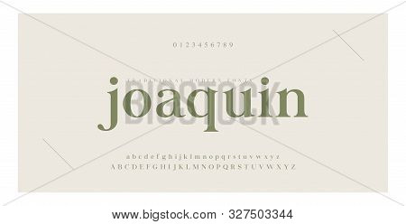 Elegant Alphabet Letters Serif Font And Number. Classic Lettering Minimal Fashion. Typography Luxury
