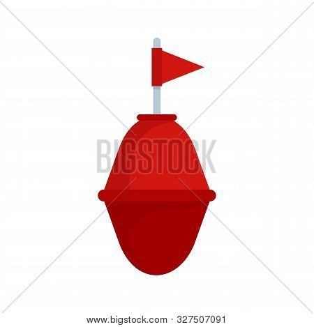 Port Buoy Icon. Flat Illustration Of Port Buoy Vector Icon For Web Design
