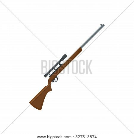 Sniper Scope Rifle Icon. Flat Illustration Of Sniper Scope Rifle Vector Icon For Web Design