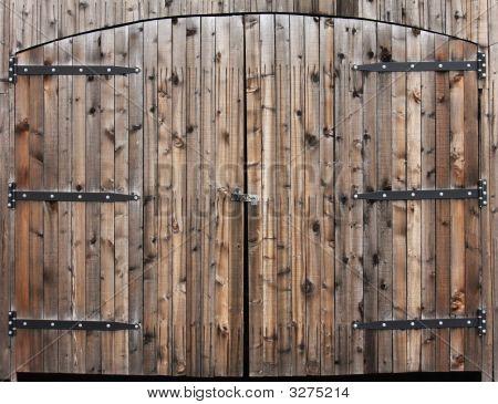 Weathered Wooden Double Door