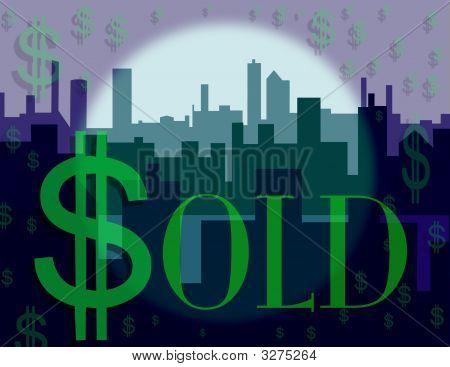 Dollar Sign Skyline