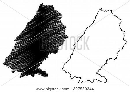 Baalbek-hermel Governorate (lebanese Republic, Governorates Of Lebanon) Map Vector Illustration, Scr