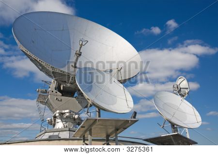 A Large Satellite Dish Aimed Into Space