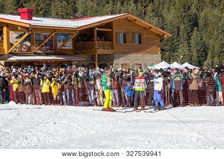 Bansko, Bulgaria - December, 12, 2015: Open New Ski Season 2015-2016 In Bansko, Bulgaria With Marc G