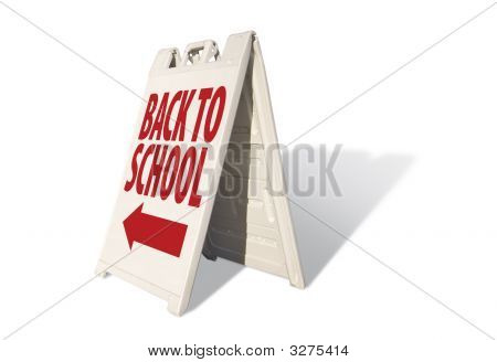 Back To School - Tent Sign