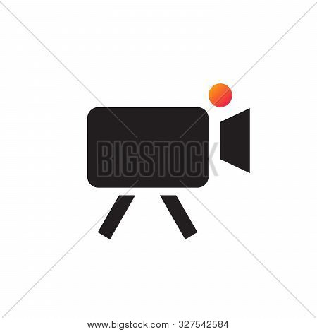 Video Camera Icon Vector Flat Design. Rec Camera Icon. Stock Vector Illustration Isolated On White B