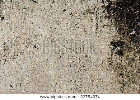 Plain Grunge Concrete Wall Background With Darkened Edges