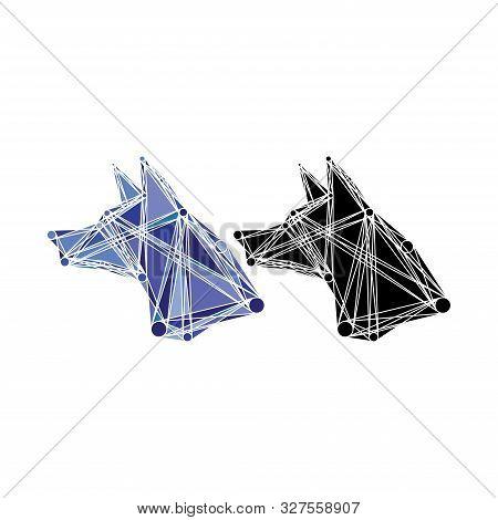 Creative Fox Or Dog Logo Design Template, Meta Ball Concept