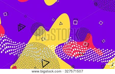 Purple Spotty Flyer. Summer Wallpaper. Salmon Line Decor. Honey Splash Poster. Funny Drawing. Lavend