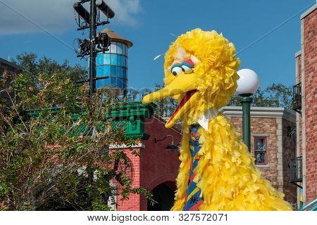 Orlando, Florida. October 5, 2019. Big Bird In Sesame Street Party Parade At Seaworld 27