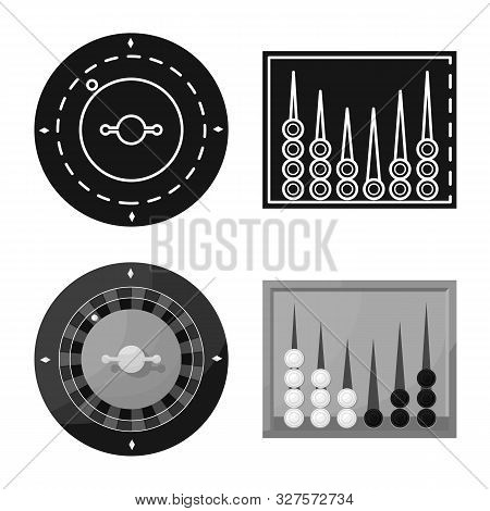 Vector Illustration Of Entertainment And Competition Icon. Set Of Entertainment And Rivalry Vector I