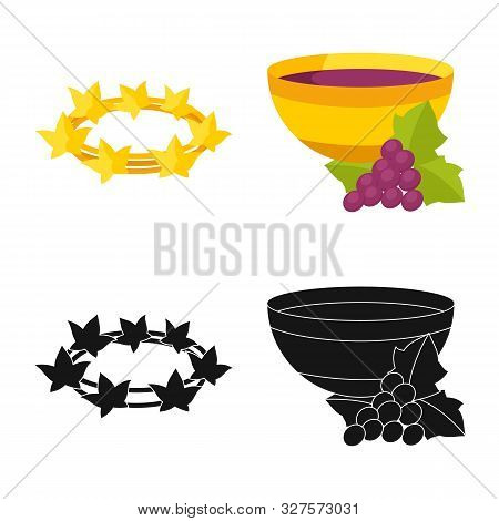 Vector Design Of Deity And Antique Logo. Collection Of Deity And Myths Vector Icon For Stock.