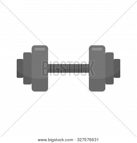 Fitness Barbell Icon. Flat Illustration Of Fitness Barbell Vector Icon For Web Design
