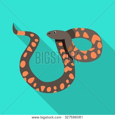 Isolated Object Of Serpent And Viper Logo. Web Element Of Serpent And Rattlesnake Vector Icon For St