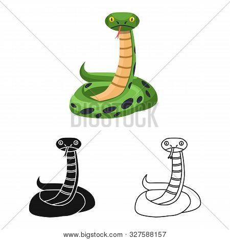 Vector Design Of Python And Serpent Icon. Web Element Of Python And Jungle Stock Symbol For Web.