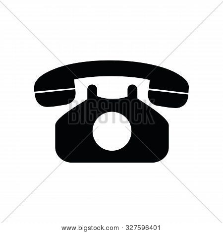 Old Phone Icon Isolated On White Background Vector Illustration Eps10