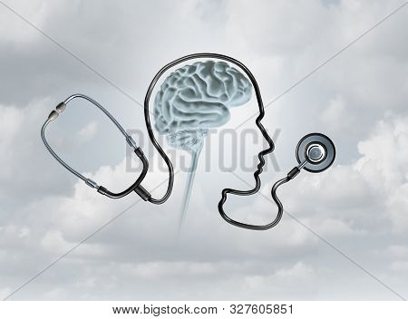 Mental Health Contept And Brain Disorder Awareness As A Healthcare Or Health Care Concept With 3d Il