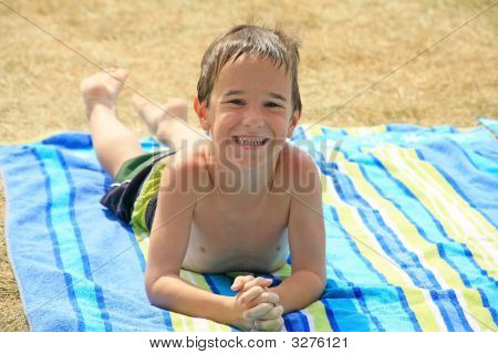 Little Boy At The Pool